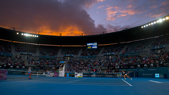 The view inside Ken Rosewall Arena, the largest stadium in Sydney Olympic Park, during last year's tournament. Photo credit: Steve Christo/Getty Images.