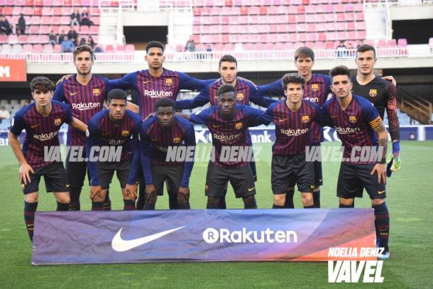 Los 11 jugadores del filial que jugaron de inicio / Foto: Noelia Déniz (VAVEL.com)