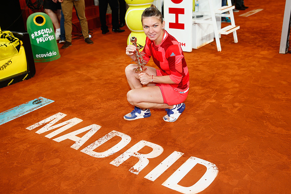 Halep's biggest highlight of 2016 so far is winning the Mutua Madrid Open title last month. Photo credit: Julian Finney/Getty Images.