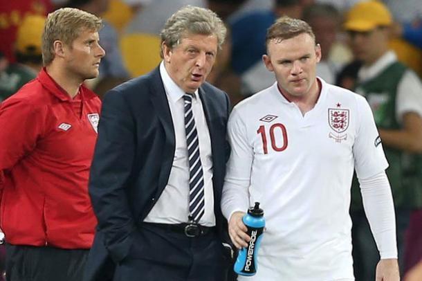 Rooney y Hodgson durante el mundial de Brasil. Foto: 101 Great Goals