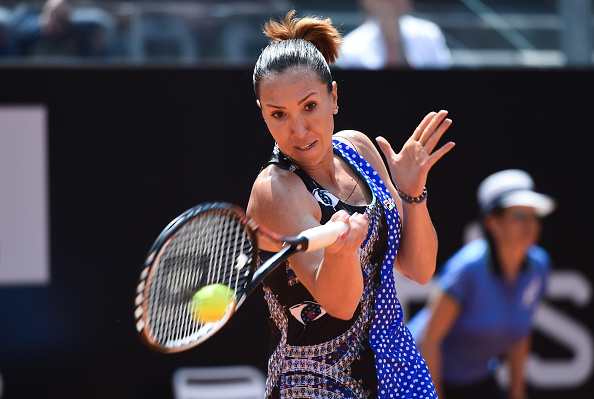 Jelena Jankovic in action during his match against Eugenie Bouchard  Photo: Getty Images