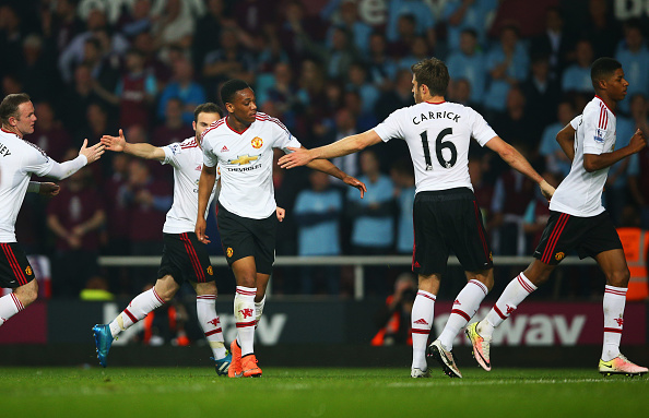 Anthony Martial levelled things up for United (photo:getty)
