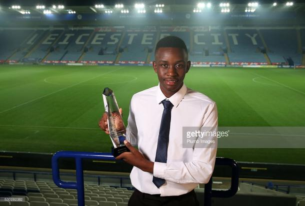 Muskwe was crowed Leicester City Academy Player of the Year in 2015-16. | Photo: Getty Images / Plumb Images.