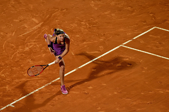 Early exits in Madrid and Rome saw Kvitova the top 10 for the first time since September 2013. Photo credit: Dennis Grombkowski/Getty Images.
