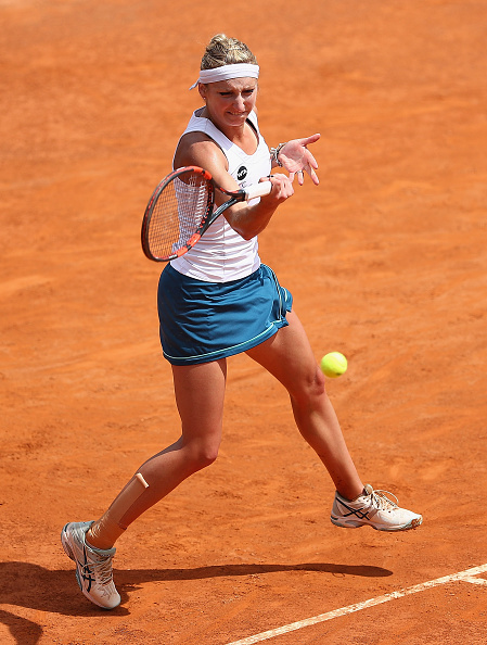 Bacsinszky builds a strong lead in the decider | Photo: Matthew Lewis/Getty Images