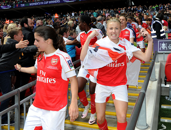 Even though she only had a cameo at FA Cup final there's no question Leah Williamson will be staring for the Gunners for a long time to come (Photo credit: David Price/Getty)
