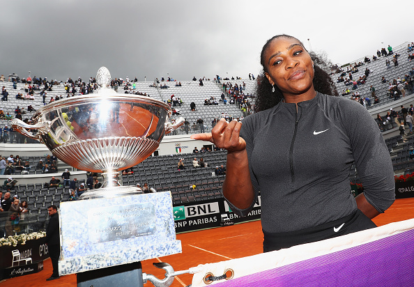Serena Williams pictured after winning against Madison Keys during the Women's Singles Final at the The Internazionali BNL d'Italia 2016. (Photo by Matthew Lewis/Getty Images)