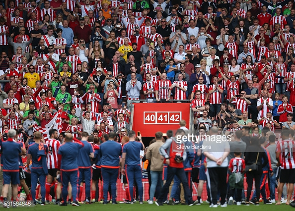Scenes like this, at the end of the 2015/16 season, were not repeated this time around. Photo: Getty.