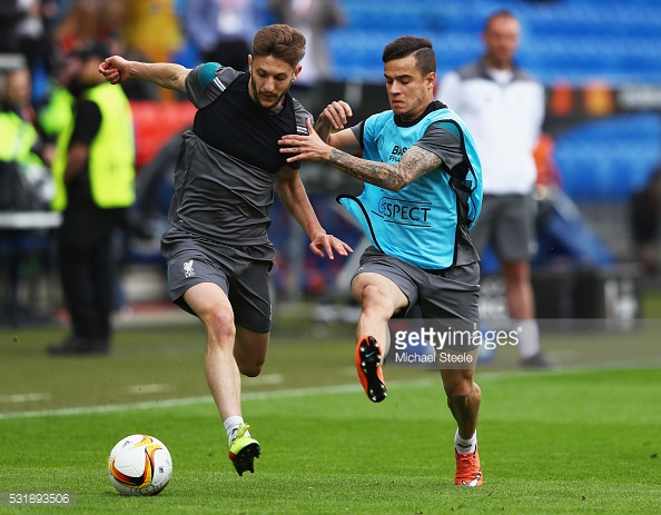 Lallana has formed a fantastic partnership with Coutinho and Firmino. Photo: Michael Steele/Getty