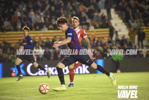 El partido también sirvió para dar minutos a jugadores del filial / Foto: Noelia Déniz (VAVEL.com)