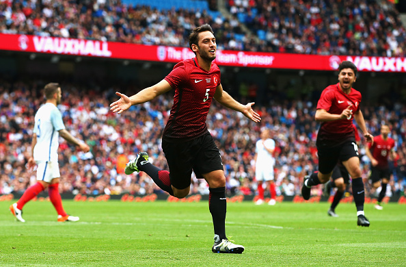 Calhanoglu's recent rise to prominence in European football makes him a poster boy for Turkey this summer. (Photo: Alex Livesey/Getty Images)