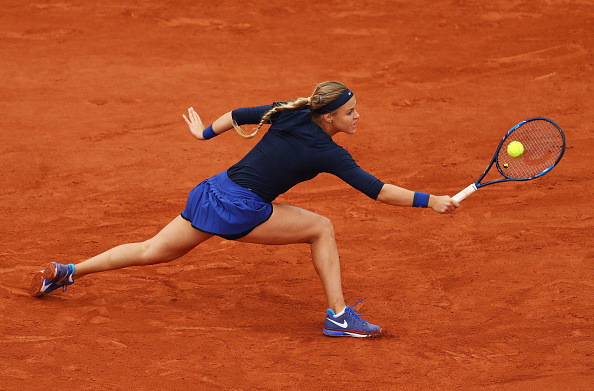 Schmiedlova's recent match was a little more positive | Photo: Julian Finney/Getty Images