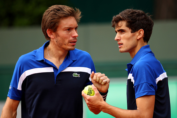 Nico Mahut and Pierre-Bugues Herbert at Roland Garros (Photo: Clive Brunskill/Getty Images)