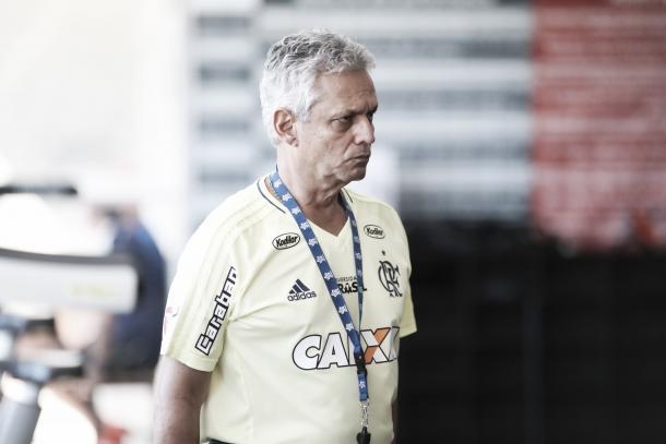 Rueda comandou atividade às vésperas da decisão na Copa do Brasil (Foto: Gilvan de Souza/Flamengo)