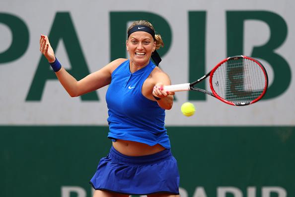 Kvitova clawed her way back into the match, winning a second set tiebreak/Julian Finney/Getty Images