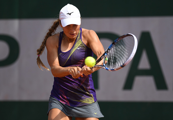 Yulia Putintseva hits a backhand at the French Open in Paris/Getty Images