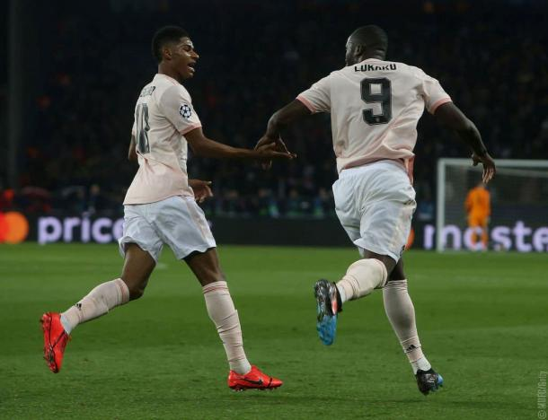 Marcus y Lukaku / Foto: Twitter oficial del Manchester United