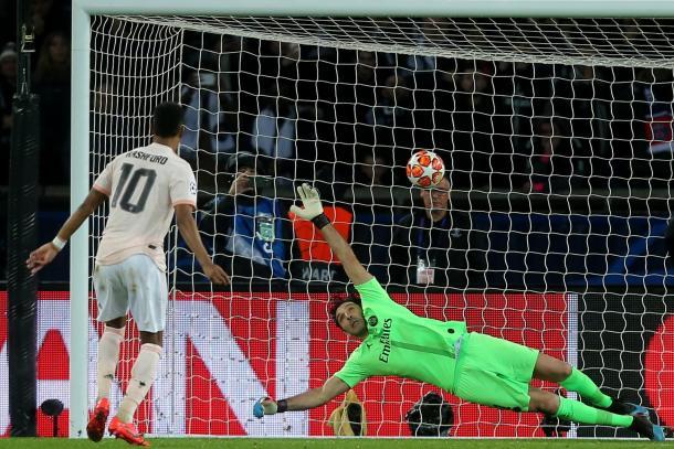 El momento exacto del gol / Foto: Twitter oficial UEFA Champions League