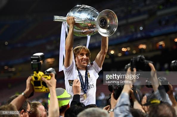 Luka Modric con su segunda Champions | Foto: Getty Images