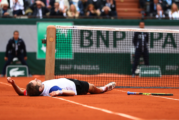 Gasquet was a frustrated figure as the match slipped away (photo:getty)