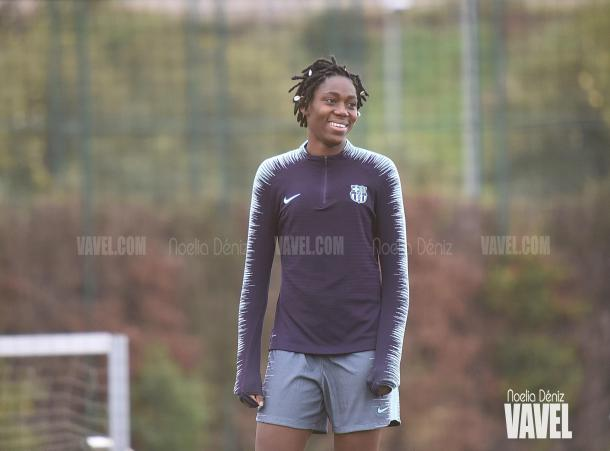 La futbolista nigeriana está rindiendo a un gran nivel con el Barça / Foto: Noelia Déniz (VAVEL.com)