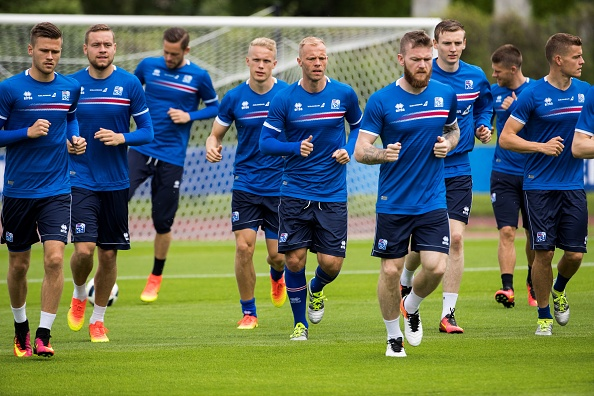 Iceland preparing for their first major tournament. (Photo: AFP / ODD ANDERSEN)