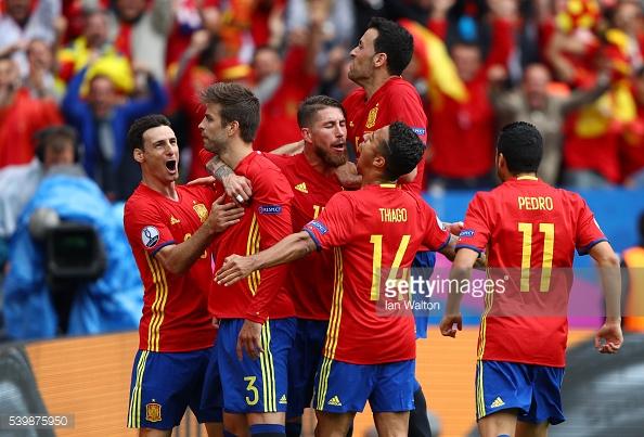 Piquê foi o autor do golo da equipa espanhola