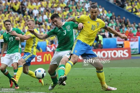 Irlanda e Suécia empataram no jogo de abertura do Grupo E