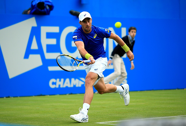 Steve Johnson of the USA is into the second round in the Aegon Championships in London after he upset the fourth seed, Richard Gasquet of France (Photo: