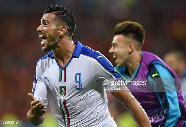 Pellè fez o 2-0 para a Squadra Azzurra