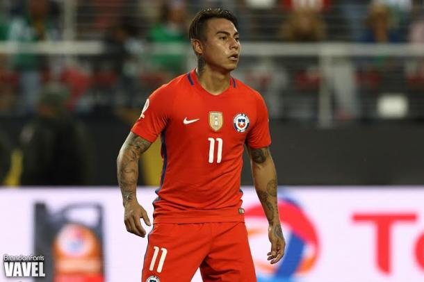 Chile's forward Eduardo Vargas enjoyed the best night in his professional by scoring four goals against Mexico on Saturday at Levi's Stadium. Photo provided by Brandon Farris-VAVEL USA.