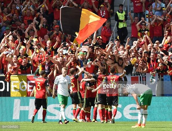 A Bélgica teve hoje a sua primeira vitória no Euro 2016!
