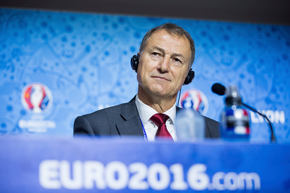 Gianni De Biasi was full of positives in his pre-match presser. (Photo: Handout/UEFA via Getty Images)