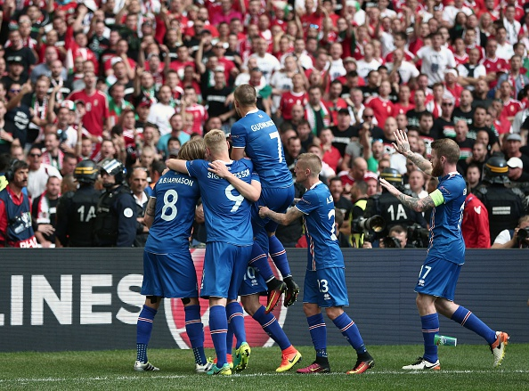 Iceland will hope to be celebrating again come full time on Wednesday evening. (Photo: Burak Akbulut/Anadolu Agency/Getty Images)