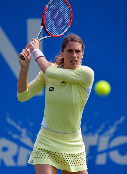 Petkovic off to a strong start in the second set | Photo: Glyn Kirk/Getty Images