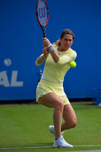 Petkovic goes ahead to put pressure on her opponent | Photo: Glyn Kirk/Getty Images