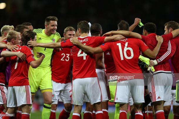 O País de Gales celebrou a passagem aos oitavos de final