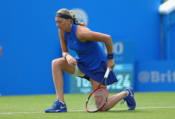 Kvitova failed to win back-to-back matches during grass court tournaments in Birmingham and Eastbourne. Photo credit: Steve Bardens/Getty Images.