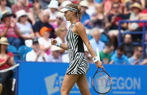 Mladenovic eventually forces a third set | Photo: Steve Bardens/Getty Images