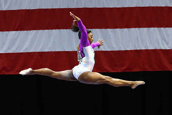 Biles was nearly perfect in dominating the field in St. Louis/Photo Source: Dilip Vishwanat/Getty Images