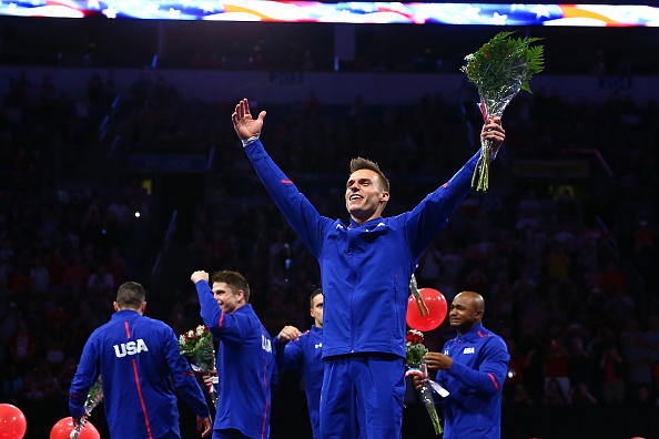 Sam Mikulak celebrates a return to the Olympic games/Getty Images