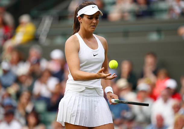 Laura Robson in action during Wimbledon last year (Getty/Clive Brunskill)