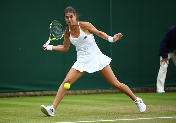 Cirstea managed to make the second set a more competitive one but not enough to trouble Kvitova. Photo credit: Clive Brunskill/Getty Images.