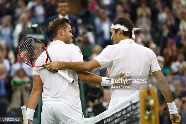 Marcus Willis played Roger Federer at Wimbledon last year. (picture: Getty Images / Julian Finney)