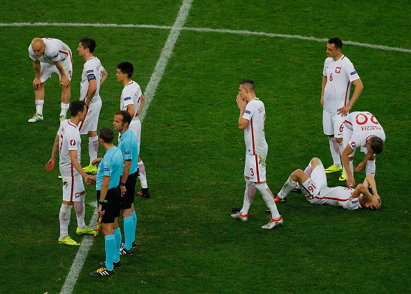 Poland's tournament ended in heartbreak on Thursday evening. (Photo: Evren Atalay/Anadolu Agency/Getty Images)