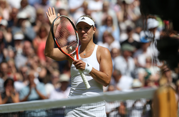 Kerber is yet to drop a set at this years' Championships (photo:getty)