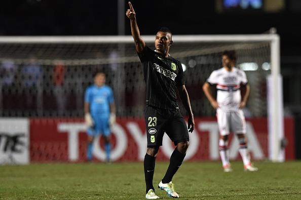 Miguel Borja marcou dois gols no Morumbi (Foto: Getty Images)