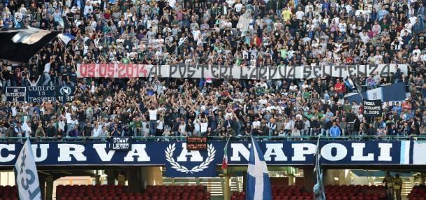 La declaración de 'guerra' por parte de la Curva A del Napoli. / Foto: zimbio.com