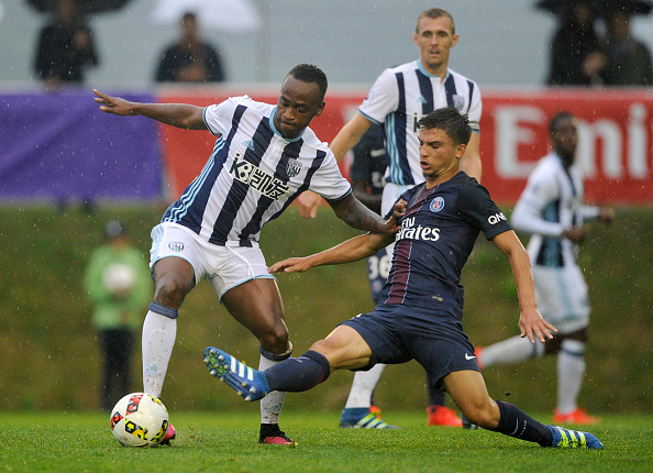 Berahino turned out for West Brom versus PSG in Austria last week (photo:getty)