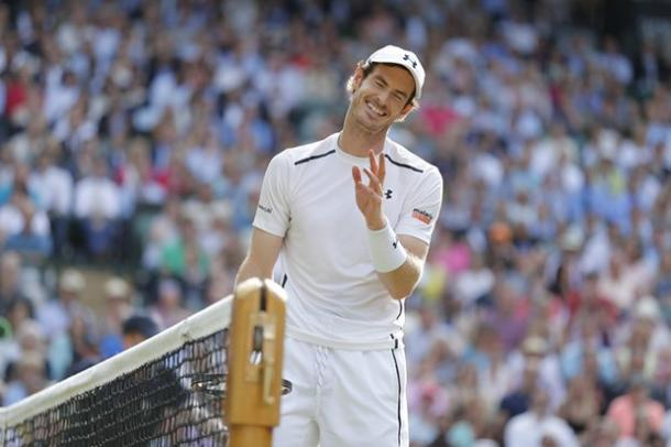 Such was the margin of Murray's victory on Friday he could afford a smile. (Image source: The Guardian)